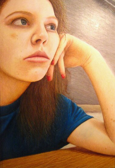 Portrait Art: Lost in Thought by Lauren Laumbach