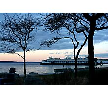 Framed Ferry Boat Photographic Print