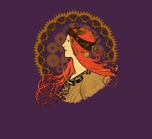 Steampunk Zodiac (Mucha Homage) Womens Fitted T-Shirt