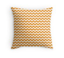 orange chevrons Throw Pillow