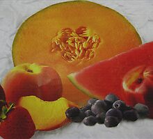 Textured Fruit by Linda Miller Gesualdo