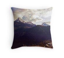 Annapurna South Throw Pillow
