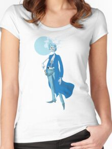 Slim Blue Women's Fitted Scoop T-Shirt