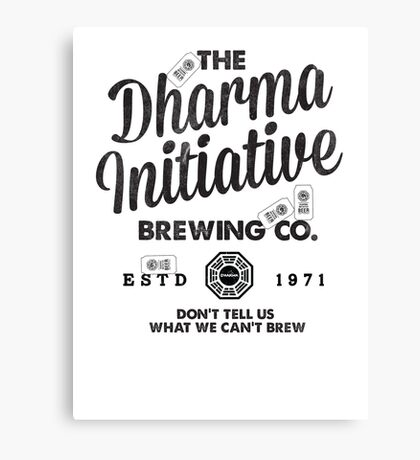 LOST Dharma Initiative Brewing Company Canvas Print