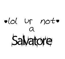 lol ur not a Salvatore Photographic Print