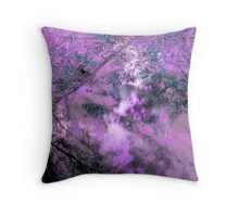 Abstracted Light on Foliage, Branches and Water Throw Pillow