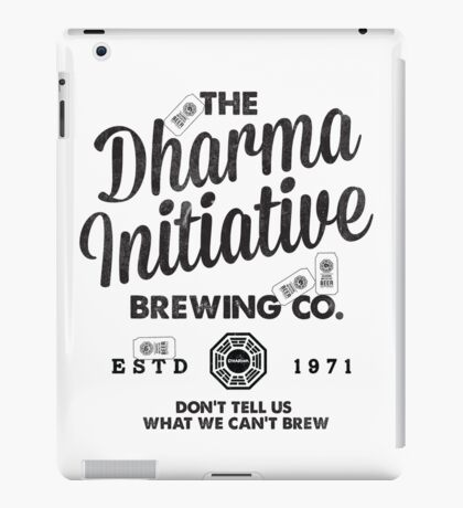 LOST Dharma Initiative Brewing Company iPad Case/Skin