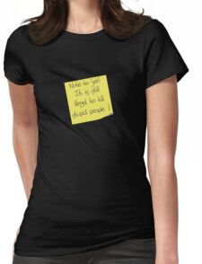 Note to Self Womens Fitted T-Shirt
