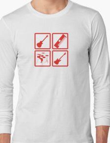 K-ON! Band Instruments Logo Long Sleeve T-Shirt