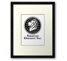 The Wolf of Wall Street Stratton Oakmont Inc. Scorsese Framed Print