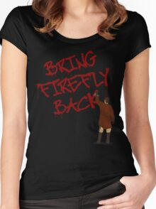 Bring Firefly Back Women's Fitted Scoop T-Shirt