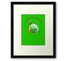 Model Yourself on a Green World Framed Print