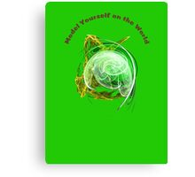 Model Yourself on a Green World Canvas Print