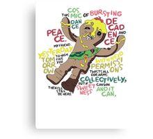 Adventure Time Royal Tart Toter Canvas Print