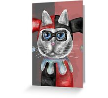 Harley Cat-Quinn Greeting Card