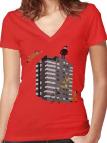 Misfits Super Hero Jumper / Sweater, Rudy 2 Women's Fitted V-Neck T-Shirt