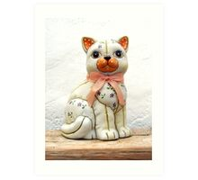 Quilted Cat. Art Print