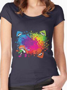 Splatoon - Ink Burst Women's Fitted Scoop T-Shirt