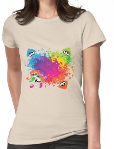 Splatoon - Ink Burst Womens Fitted T-Shirt