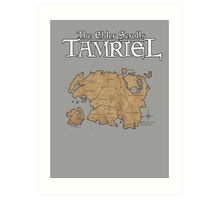 The Elder Scrolls Map Art Print