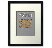 The Elder Scrolls Map Framed Print