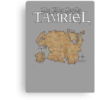 The Elder Scrolls Map Canvas Print