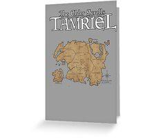 The Elder Scrolls Map Greeting Card