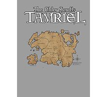 The Elder Scrolls Map Photographic Print