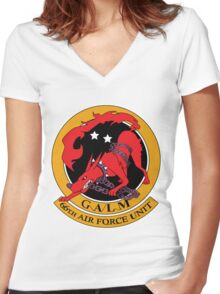 Galm Logo Women's Fitted V-Neck T-Shirt