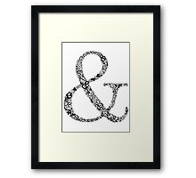 Ampersand LOVE Framed Print