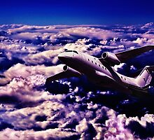 Far Above The Clouds Fine Art Print by stockfineart