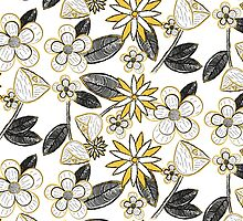 Mustard Floral by HAPPYGRAPHICS