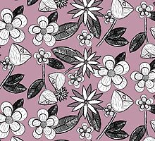 Dusky Floral by HAPPYGRAPHICS
