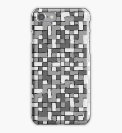 Abstract gray scale pixel background iPhone Case/Skin