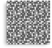 Abstract gray scale pixel background Canvas Print