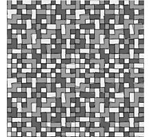 Abstract gray scale pixel background Photographic Print