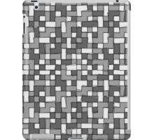 Abstract gray scale pixel background iPad Case/Skin