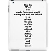 JOHN 1:14 cross iPad Case/Skin