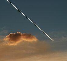Jet Plane, Smoke and Cloud. by Ross Campbell