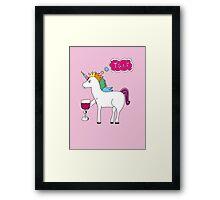TGIF Unicorn Framed Print
