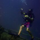 wreck diver by Jackie Fink