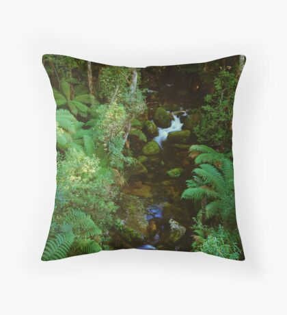 Christmas Creek - Mt Baw Baw Throw Pillow