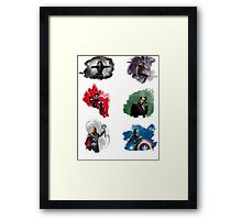 The Avengers + Watercolours Framed Print