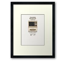 Vintage Dharma Initiative Framed Print