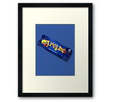 Apollo Candy Bar Wrapper Framed Print
