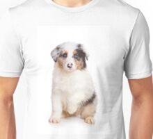 Cute Puppy Australian Shepherd Unisex T-Shirt