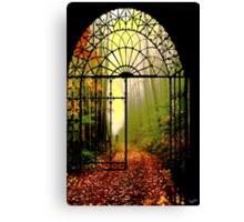 Gates of Autumn Canvas Print
