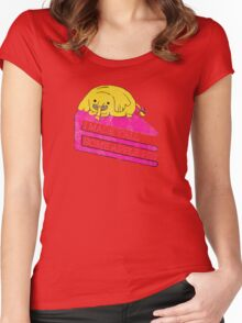 Tree Trunks Adventure Time Women's Fitted Scoop T-Shirt