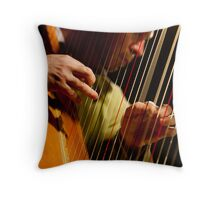 Strings of an angel Throw Pillow