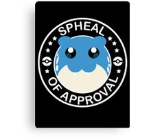 Spheal of Approval - White Canvas Print